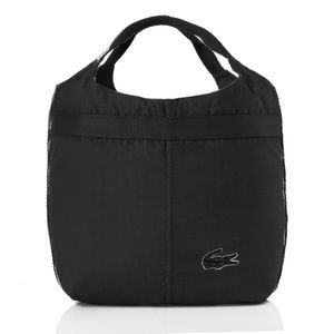 Lacoste large shopping tote croc outline logo